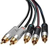 Mediabridge ULTRA Series Component Video Cable with Audio (50 Feet) - Gold Plated RCA to RCA - Supports 1080i