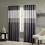 Best Home Back Tab Curtains - Black Curtains for Living Room, Transitional Back Tab Review