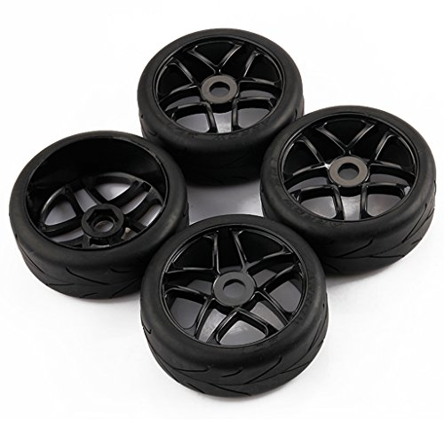 1/8 Foam Tires (4pcs 1/8 RC Baja Buggy On Road Tires Tyre and Wheels Rims for Redcat HPI RacingTraxxas)