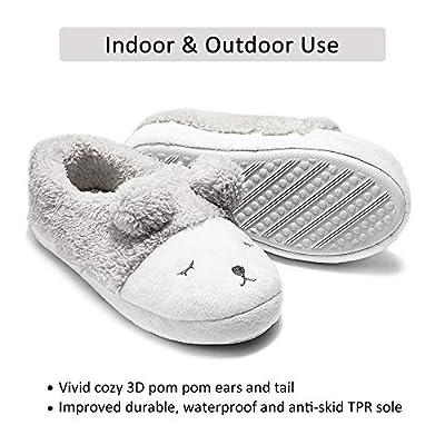 GaraTia Cute Animal Slippers for Women Fleece Plush Bedroom Winter Slippers Low Top | Slippers