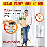 Utrax Size 39''X82'' Hands Free Magnetic Click Mosquito Net Mesh Door with Magnets Anti Bug Instant Mesh Guard Screen (Pure White)