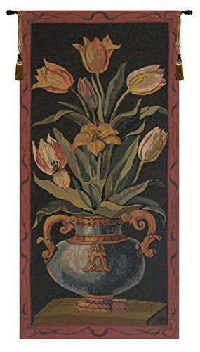 Tulips Belgian Tapestry Wall Hanging by Charlotte Home Furnishings Inc.