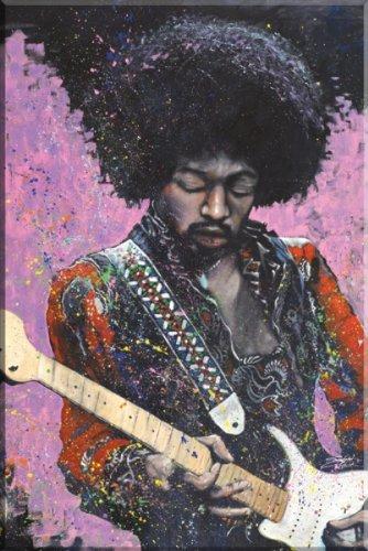 Jimi Hendrix - Stephen Fishwick Poster Print (24 x 36)