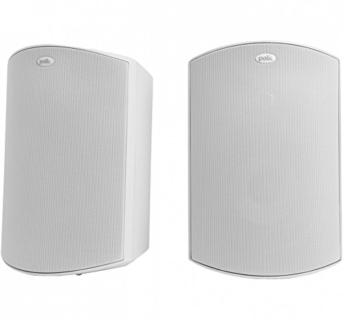 Polk Audio Atrium 5 Outdoor Speakers with Powerful Bass (Pair, White) - All-Weather Durability | Broad Sound Coverage | Speed-Lock Mounting System by Polk Audio