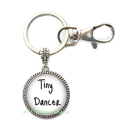 Amazon.com  Key Ring Keychain Tiny Dancer-Dancing-Dance Jewelry ... 3a2b7c89758a
