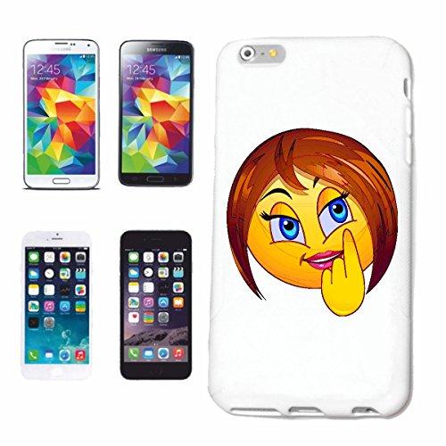 """cas de téléphone iPhone 6S """"SMILEY LADY APRÈS Fards à paupières """"SMILEYS SMILIES ANDROID IPHONE EMOTICONS IOS grin VISAGE EMOTICON APP"""" Hard Case Cover Téléphone Covers Smart Cover pour Apple iPhone e"""