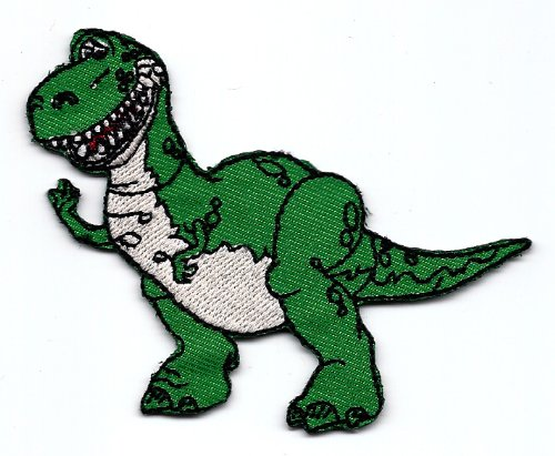 x green dinosaur in Disney Toy Story Movie Embroidered Iron On / Sew On Patch Applique ()