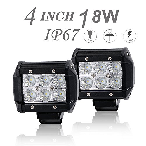 DOT Approved 2Pcs 4Inch 18W Flood LED Light Bar Offroad for sale  Delivered anywhere in Canada