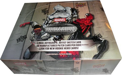 - 2015 Upper Deck Marvel Vibranium Factory Sealed Hobby Box