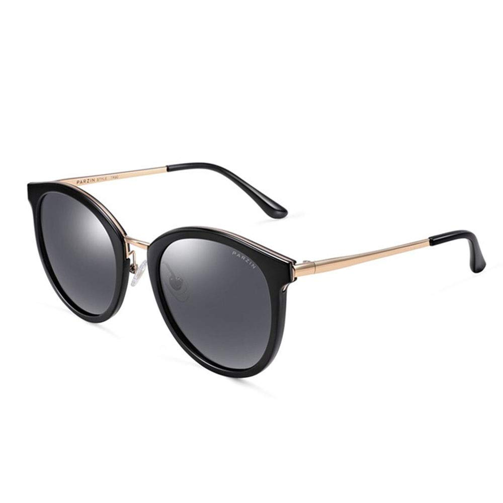 A Sunglasses, Women's Retro Ultra Light Polarized Metal Large Frame Driving Mirror Sunglasses 100% UV Predection