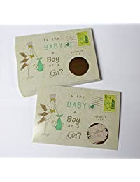 Stork Gender Reveal Scratch off Cards, Reveal The Sex of your Baby,
