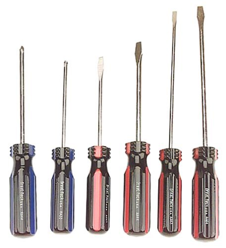 Great Neck Saw 6 Piece Slotted & Phillips Screwdriver Set AA