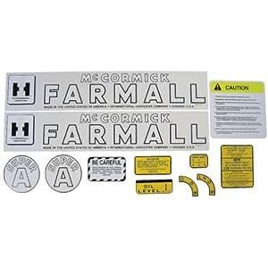 Mylar Decal Set - Farmall & Super A International Super A