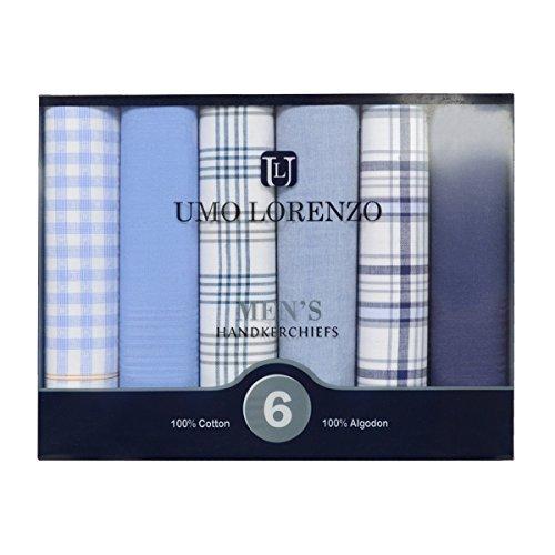 I&S Men's 6pc. Boxed Fancy Cotton Handkerchiefs - S Square