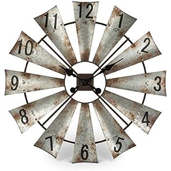 Amazon Com Big Sky Carvers Windmill Clock Home Amp Kitchen
