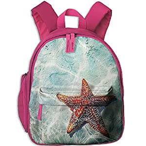 Children Shiny Starfish School Backpack Gift For Baby Boys & Girls Bookbags School Travel Outdoor Bagpack With Pocket For Toddlers Kids