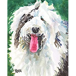 "Old English Sheepdog Art Print | Sheepdog Gifts | From Original Painting by Ron Krajewski | Hand Signed in 8x10"" and 11x14"" Sizes 3"