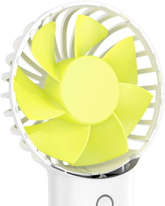 Wulofs Summer Essential Rechargeable Portable USB Powered 4000 mah Cooling Fan Handheld Mini Fan Pink