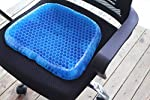 Heartbeat Gel Seat Cushion, Seat Cushion with Non-Slip Cover, Breathable Honeycomb Design Absorbs Pressure Points