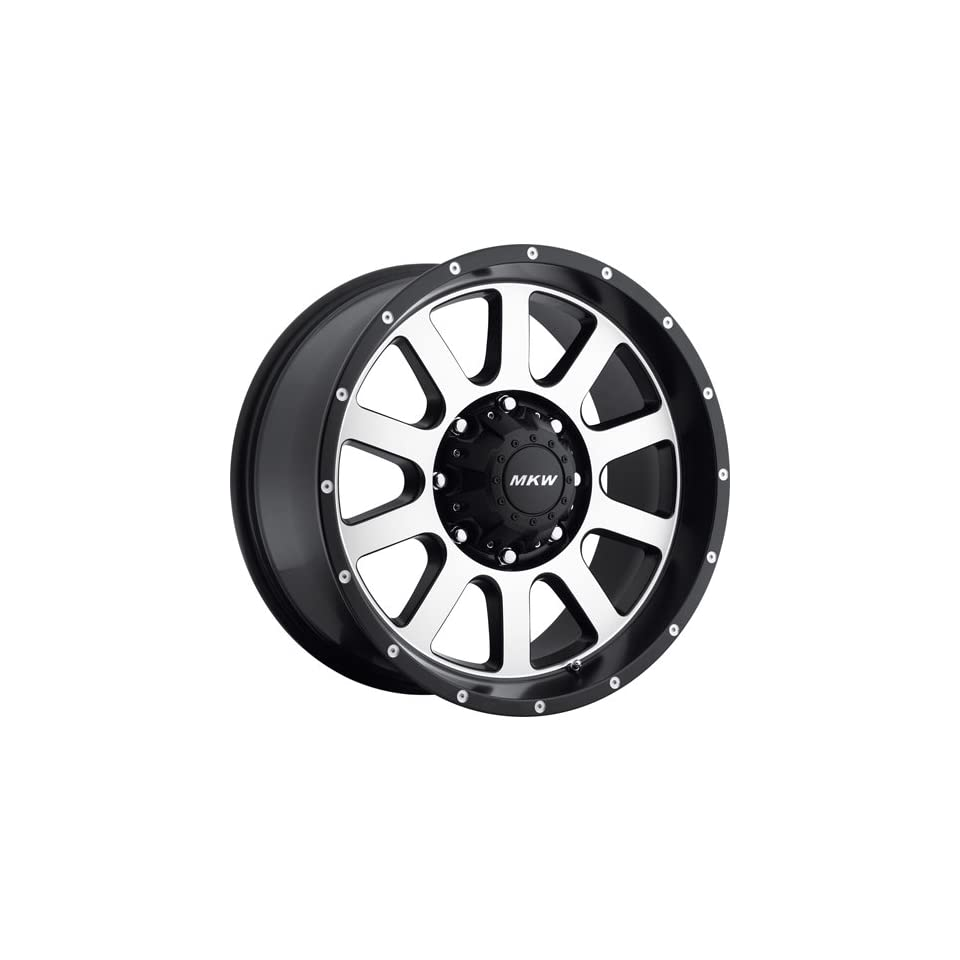 MKW Offroad M86 20 Black Machined Wheel / Rim 8x170 with a 10mm Offset and a 130.8 Hub Bore. Partnumber M86 2090817010B
