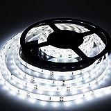 #6: LEDMO LED Strip Light, DC12V Non-Waterproof LED Strip,Daylight White,16.4Ft