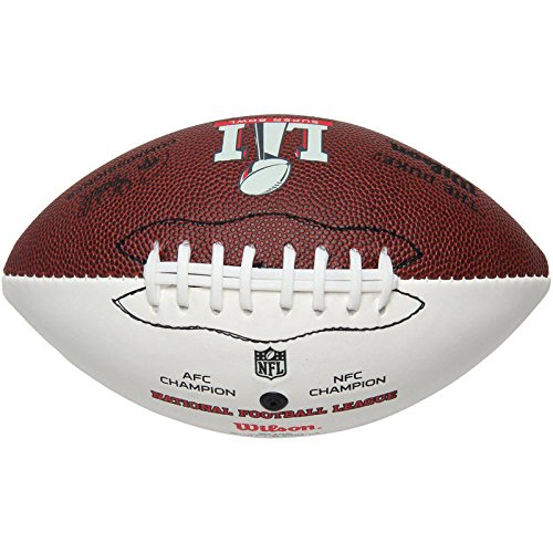 Super Bowl LI 51 Autograph MINI Dueling Football with Team Logos (Falcons vs. Patriots) by Wilson