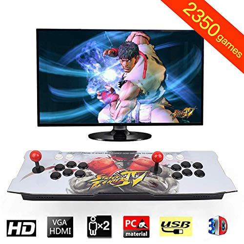 Arcade Game Console 1080P 3D & 2D Games 2350 in 1 King of Fighters Pandora's Box 3D 2 Players Arcade Machine with Arcade Joystick Support Expand 6000+ Games for PC / Laptop / TV / PS4