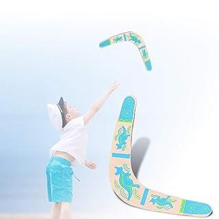 Delaman Boomerang Legno di Ritorno Boomerang a Forma di V Boomerang Giochi all'aperto Giochi Sportivi