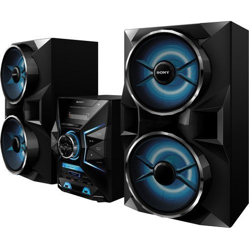 Sony 1800 Watt Bluetooth Micro Hi Fi AM FM Radio Stereo Sound System With Dual USB Auxiliary Inputs EQ DJ Effects Remote Control