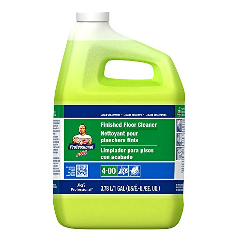 Mr. Clean Professional Finished Floor Cleaner, Lemon Scent, 1 Gallon (Case of (Finished Floor Cleaner)