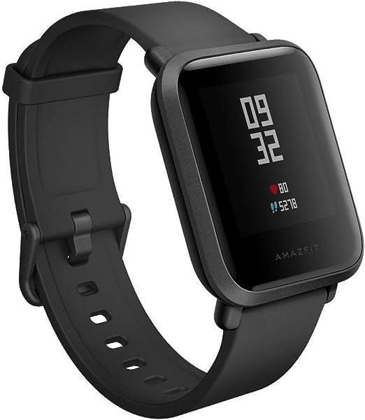 Amazfit Bip Smartwatch Monitor de actividad Pulsómetro Ejercicio Fitness Reloj deportivo (Versión Internacional) Negro/Black (Reacondicionado): Amazon.es: Deportes y aire libre