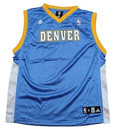 big sale 1da32 03b7f Amazon.com : adidas Denver Nuggets Blank NBA Big Boys ...