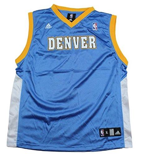 adidas Denver Nuggets Blank NBA Big Boys Replica Jersey - Light Blue (XL (18-20))
