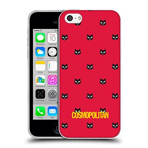 Official Cosmopolitan Red Lovey The Cat Soft Gel Case for Apple iPhone 5c