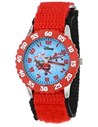 Disney Kids' W000882 Planes El Chupacabra Dusty Crophopper Stainless Steel Red Bezel Red Nylon Strap Watch