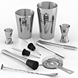 Image of ZAPPOWARE Professional Bartending Kit with Boston Cocktail Shaker – 10 pc Bar Set – Ideal even as Home Bartender Mixing Tool Kit