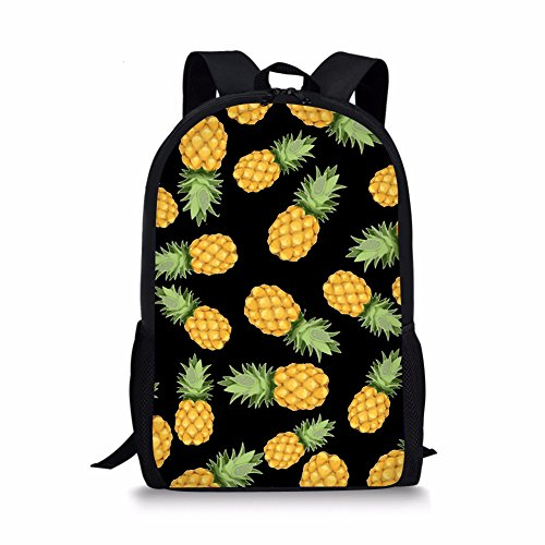 b58bf8bf41d3 Frestree Cute Cartoon Print Kids School Bag Durable Backpack for Boys and  Girls (Large, Pineapple 3)