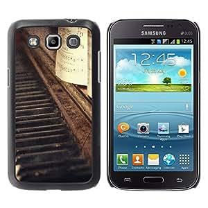 Paccase / SLIM PC / Aliminium Casa Carcasa Funda Case Cover para - Vignette Notes Music Vintage - Samsung Galaxy Win I8550 I8552 Grand Quattro