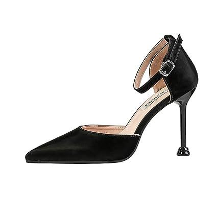 3a5f697effdb2 Amazon.com: YXB Women's High Heels 2019 New Satin Pumps Fashion ...