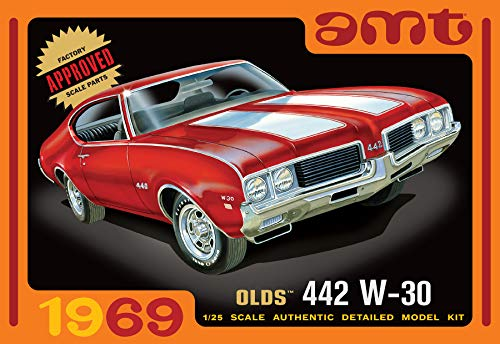 (AMT 1105 1969 Olds 442 W-30 1:25 Scale Plastic Model Kit Requires Assembly)