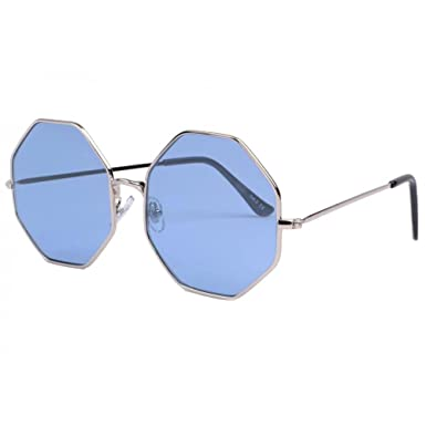 Eye Wear Lunettes de soleil octogonales bleues Fashion Octy - Mixte Km7vCUF