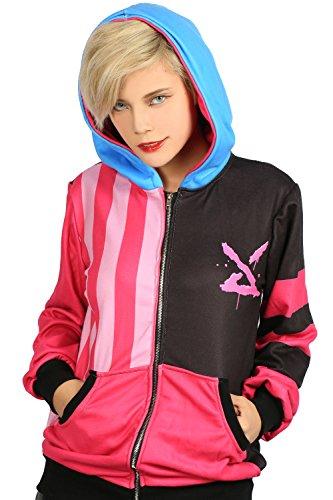 XCOSER Jinx Cosplay Hoodie Sweatshirt Pullover Costume for Halloween S (Jinx Christmas)