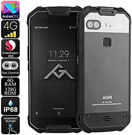 AGM X2 Rugged Phone Android 7.1 Octa-Core CPU 6GB RAM 128GB ROM ...