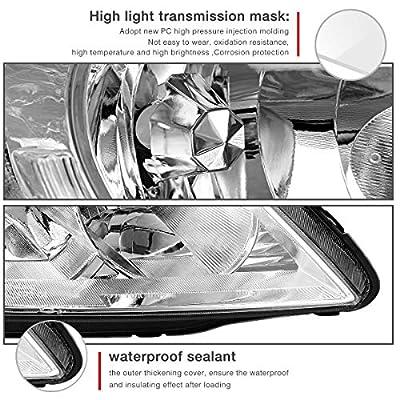 AUTOSAVER88 Headlight Assembly Compatible with 2004 2005 Honda Civic Chrome Housing Headlamps: Automotive