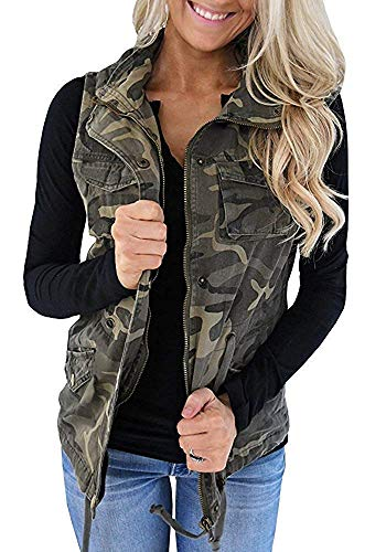 Hestenve Womens Military Sleeveless