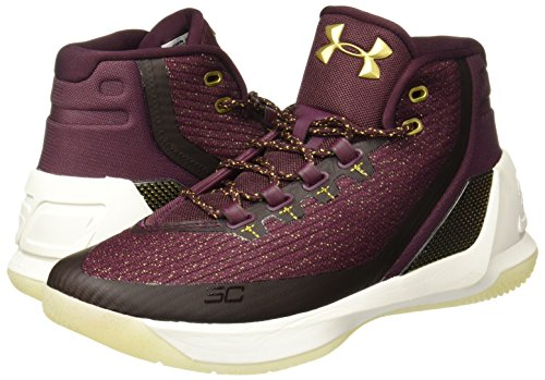 Under Armour UA Curry 3 Hombre Zapatillas Baloncesto burdeos