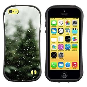 Paccase / Suave TPU GEL Caso Carcasa de Protección Funda para - Tree Christmas Winter Snow - Apple Iphone 5C