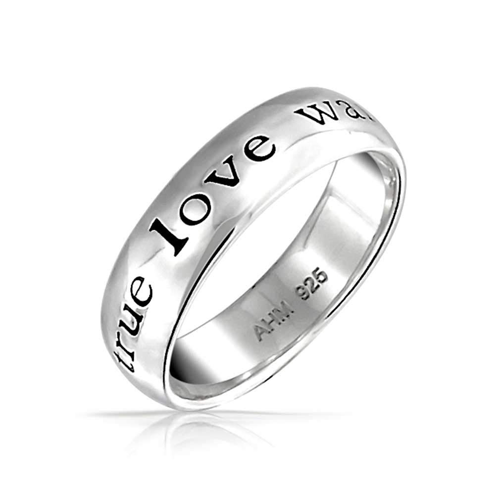 True Love Waits Sterling Silver Purity Ring