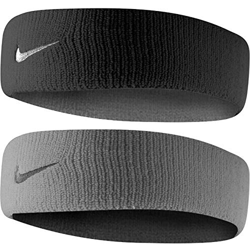 Nike Dri-Fit Home & Away Headband (One Size Fits Most, Black/Base Grey) by Nike