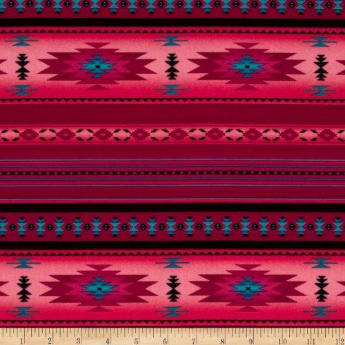 Elizabeth's Studio Tucson Stone Pink Fabric by The - Southwestern Fabric Print